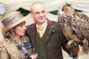 Bride and Groom with Claudia - European Eagle Owl